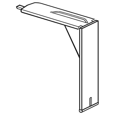 FFR Merchandising Plastic Shelf-Top Bracket, 75/Pack (1509587601)