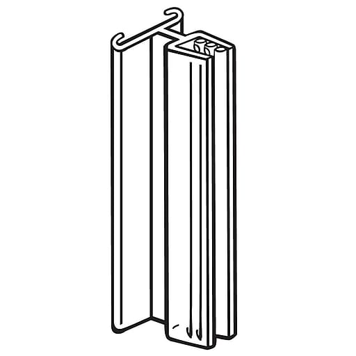"""FFR Merchandising SuperGrip® Sign Holder Without Hinge, 3""""L x 0.1"""" Capacity, 50/Pack (1514844301)"""
