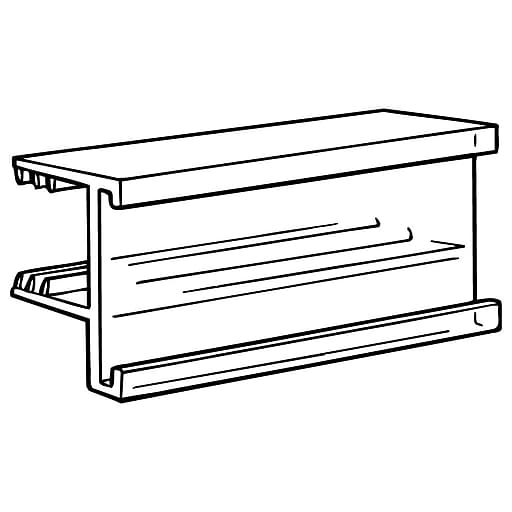 "FFR Merchandising SuperGrip® Wood Shelf Display-Trak, 1-1/4""H x 2-1/2""L, 30/Pack (1813962700)"