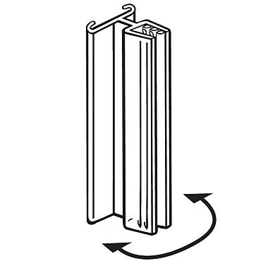 FFR Merchandising ? Porte-affiche SuperGrip, 3 po long., sans charnière, 0,1 à 0,25 po d?espacement, 30/paquet (1816580001)