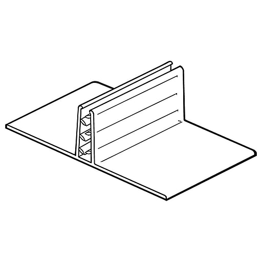 """FFR Merchandising SuperGrip® T-Style Table-Top Sign Holder, 6"""" L, 15/Pack (2110705202)"""