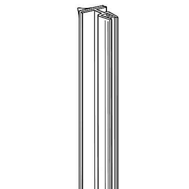 FFR Merchandising ? Porte-affiche SuperGrip avec charnière et adhésif, 22 po L, 0,13 à 0,19 po d?espacement, 6/pqt (2112624201)