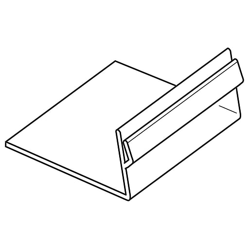 "FFR Merchandising PVC Easel Card Holder, 1/2"" H x 2"" W, One-Way, 32/Pack (2160561601)"