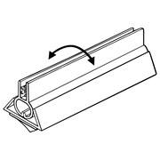 "FFR Merchandising PVB Perfect View SuperGrip® Sign Holder, 1"" H x 1 1/16"" W x 6"" L, 12/Pack (2160827201)"