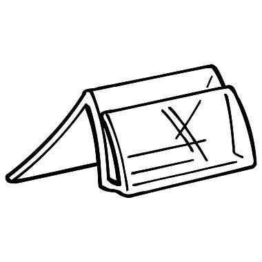 FFR Merchandising - Porte-étiquette THE201, forme de chevalet/apparence cristal, 1,25 long. x 1 prof. (po), 200/pqt (2161722400)