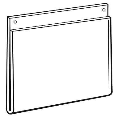 FFR Merchandising Acrylic Wall-Mount Sign Holder, 11