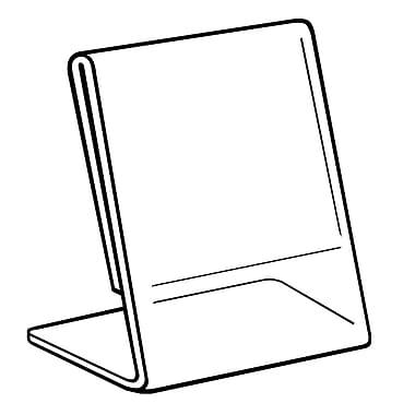 FFR Merchandising - Porte-affiche incurvé en acrylique, 8,5 larg. x 11 haut. (po), 4/paquet (2201588102)