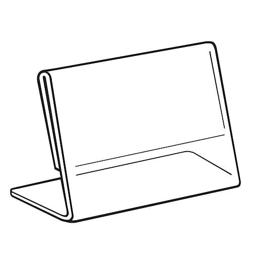 "FFR Merchandising Acrylic Slantback Sign Holder, 8 1/2"" W x 11"" H, 4/Pack (2201588103)"