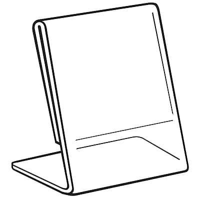 FFR Merchandising Acrylic Slantback Sign Holder, 11