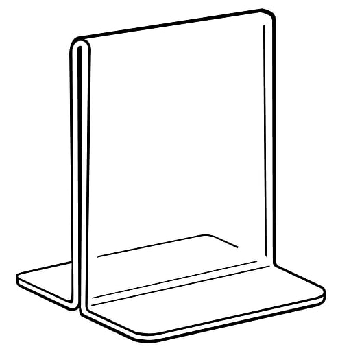 "FFR Merchandising Acrylic Bottom-Load Sign Holder, 5 1/2"" W x 7"" H, 4/Pack (2202754101)"