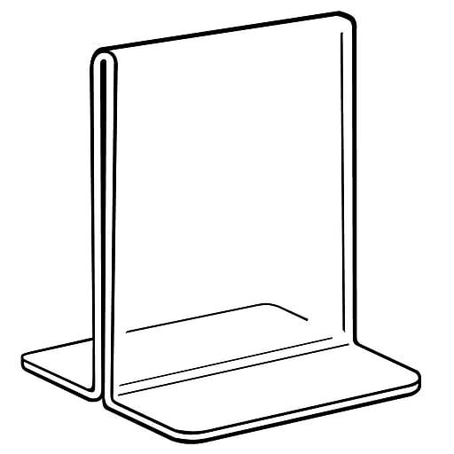 "FFR Merchandising Acrylic Bottom-Load Sign Holder, 8 1/2"" W x 11"" H, 4/Pack (2202754102)"