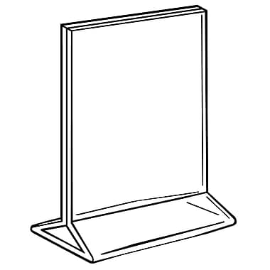 FFR Merchandising Acrylic Top-Load Sign Holder, 8.5