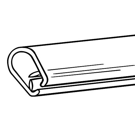 "FFR Merchandising SuperGrip® Display Tube, 12"" L, 24/Pack (2501807701)"