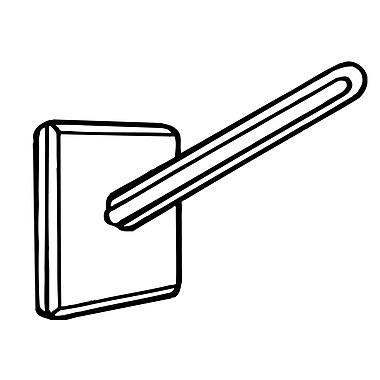FFR Merchandising ? Base de présentoir à angle sans adhésif 2293, 100/pqt (2502089601)