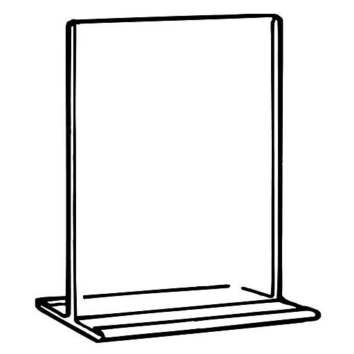 FFR Merchandising OFM T-Frame Sign Holder, Standard, 4/Pack (2702267800)