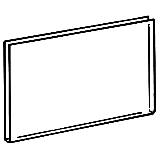 "FFR Merchandising ST3555 See-Thru Sign Protector, 3 1/2"" H x 5 1/2"" L, 75/Pack (3107523601)"
