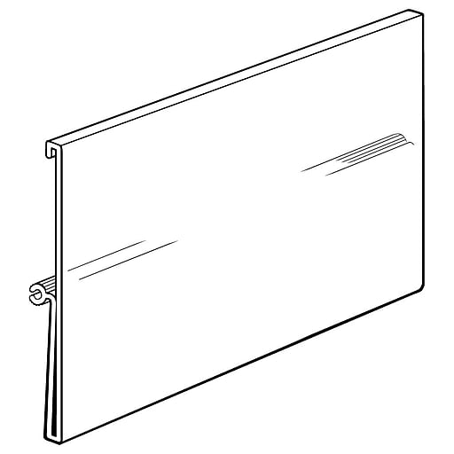 FFR Merchandising Perfect View™ Sign System, Large Sign Holder, 10/Pack (3502445003)
