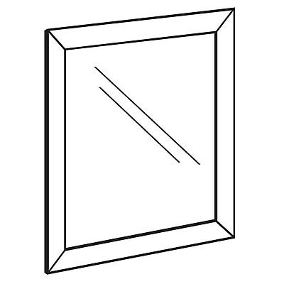 FFR Merchandising Indoor/Outdoor Front Load Metal Sign Frame, 17