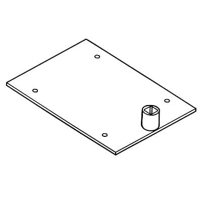 FFR Merchandising Sign Frame System Bases, Black, Single-Stem Shovel Base, 14/Pack (3701950202)