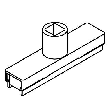 FFR Merchandising ? Système de cadre pour enseigne, bases, blanc, base magnétique à tige unique, 6/paquet (3702346201)