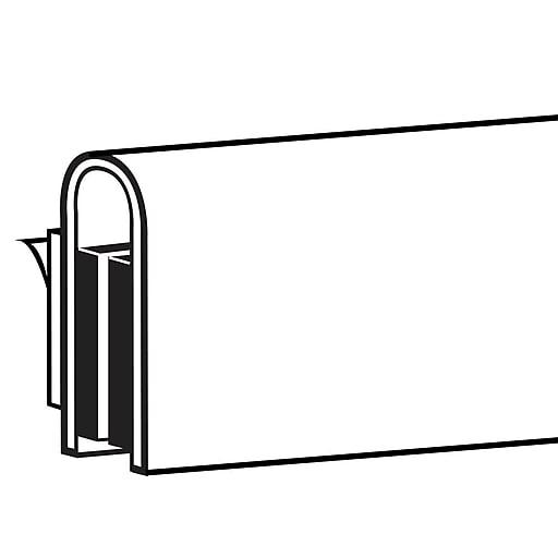 "FFR Merchandising Magic Magnet™ Econo Sign Holder, 48"" L, White, 4/Pack (3703667405)"