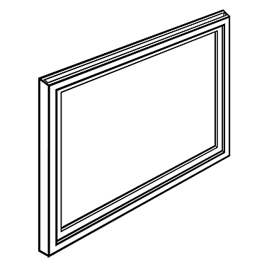 FFR Merchandising - Cadres pour enseigne, 11 x 14 po, blanc, 6/paquet (3704707813)