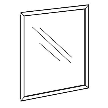 FFR Merchandising ? Cadre en plastique pour enseigne avec protecteur, ins. front., noir, 24 L x 36 H (po), 2/pqt (3705724207)