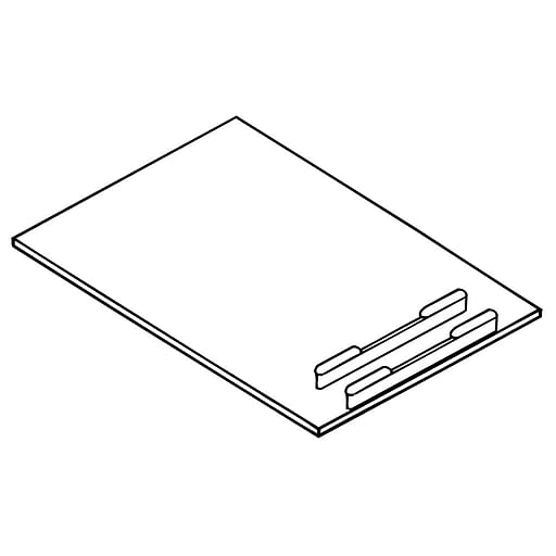 FFR Merchandising Sign Frame System, Bases, White, Sign Frame Shovel Base, 14/Pack (3706769201)