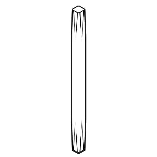 """FFR Merchandising Stems and Stem Mounts; 4""""L, White, Fixed, 30/Pack (3709480201)"""