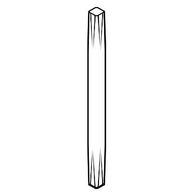 FFR Merchandising ? Tiges et supports, 8 po de long, blanc, fixe, 24/paquet (3709480207)