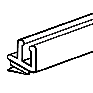 FFR Merchandising Contoured Low Profile Front Fence Plastic, Clear, 8/Pack (4105854001)