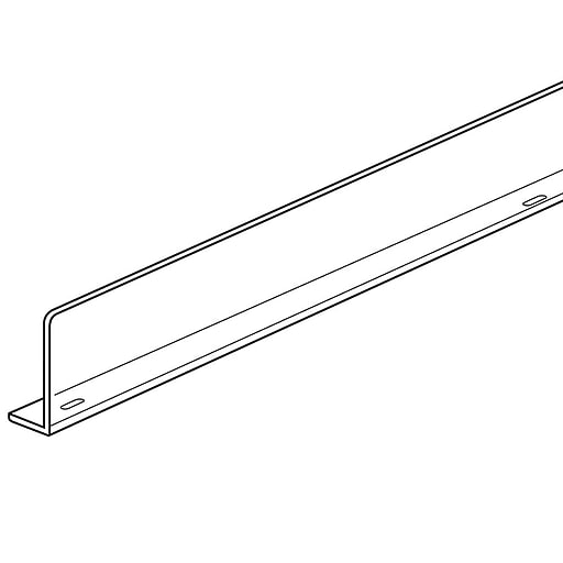 """FFR Merchandising Universal Front Fence and Rectangular Divider, 5"""" H x 36"""" L, Styrene, Front Fence, 4/Pack (4105936801)"""