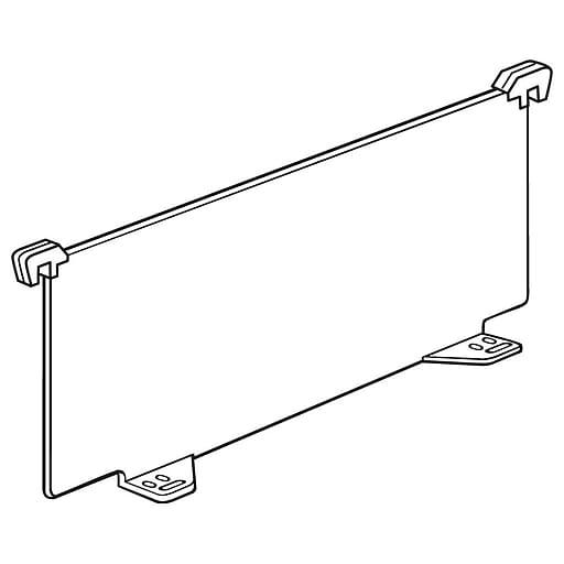 "FFR Merchandising Universal Front Fence and Rectangular Divider, 5""H x 11 1/2""D, 12""D Shelf Dividers, Clip, 12/Pack (4106314204)"