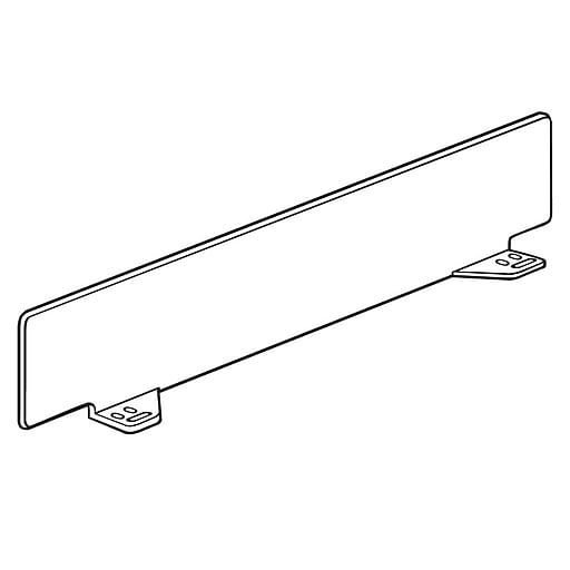 "FFR Merchandising Universal Front Fence and Rectangular Divider, 3""H x 16-1/2""L, 17""D Shelf, Dividers, 14/Pack (4130611506)"