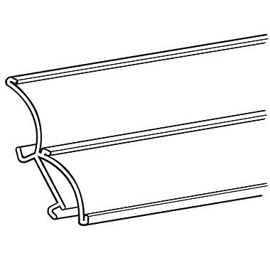 FFR Merchandising ? Support profilé en C à courbure double pour glissière à tablette, 47,88 po long., 4/pqt (4306300302)