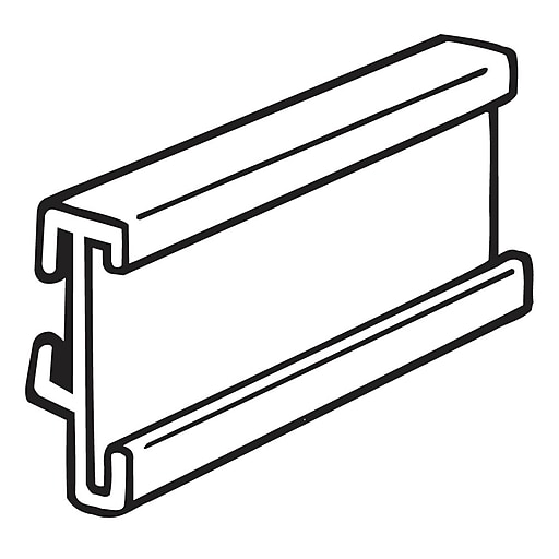 "FFR Merchandising Peg Arm Sign System, C-Channel, 1 1/4""H x 3""L, 60/Pack (5101725200)"