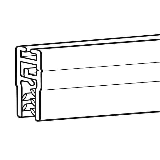 "FFR Merchandising Mercury Banner Hanging System, Black, 48""L, 6/Pack (6112562506)"