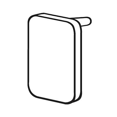 FFR Merchandising Elite™ End Cap, Black, Square, 175/Pack (6116803700)