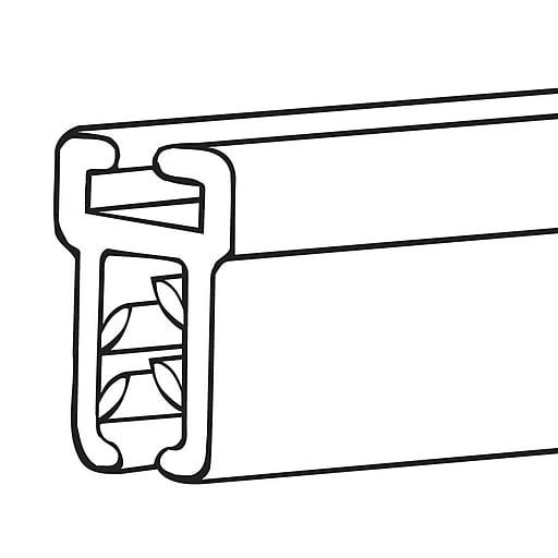 "FFR Merchandising BHSG SuperGrip® Atlas Banner Hanger, 22""L, Clear, 0.08""cap, 16/Pack (6118056601)"