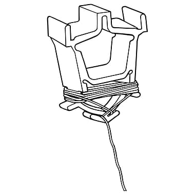 FFR Merchandising Eagle™ Ceiling Clip, 6' L, White, 100/Pack (6401693803)