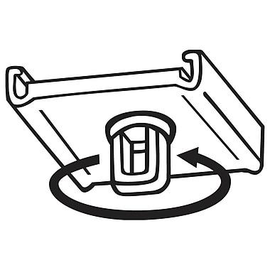 FFR Merchandising Swivel Loop Ceiling Clip, Natural, 100/Pack (6402289600)