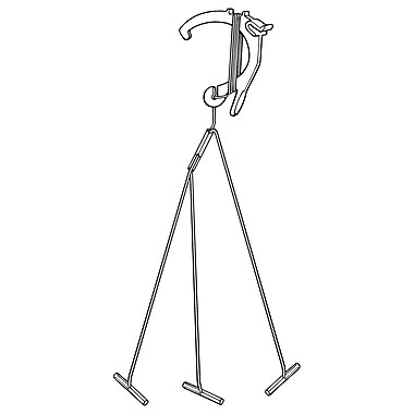 FFR Merchandising CGH Universal Plastic Ceiling Hook, 6'L, Multi-Split, 3 Branches, White Clip and Cord, 100/Pack (6402440301)