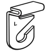 FFR Merchandising ? Crochet de plafond en aluminium, 2 pièces, gauche, 100/paquet