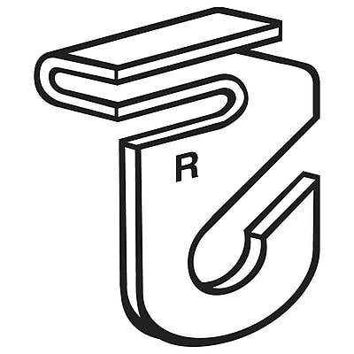 FFR Merchandising Aluminum Ceiling Hook, Two-Piece Right, 100/Pack (6405425801)