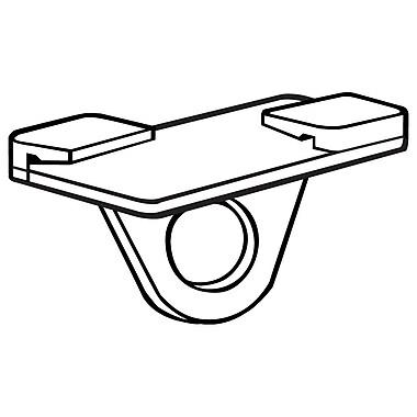 FFR Merchandising Sure-Twist Ceiling Loop, White, 100/Pack (6406643201)