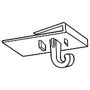 """FFR Merchandising 2277 Ceiling Grid Hook, 3/4"""" W x 1 1/8"""" L, 200/Pack (6408135900)"""