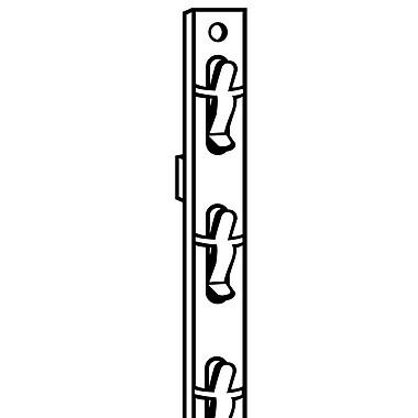 FFR Merchandising ? Bande à marchandise 2 fonctions, 29,25 po de long, blanc, sans surmontoir, 12 places, 50/paquet (7000033705)