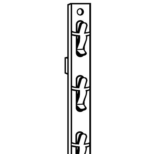 """FFR Merchandising Double-Duty™ Merchandising Strip, 29 1/4"""" L, White, No Header, 12 station, 50/Pack (7000033705)"""