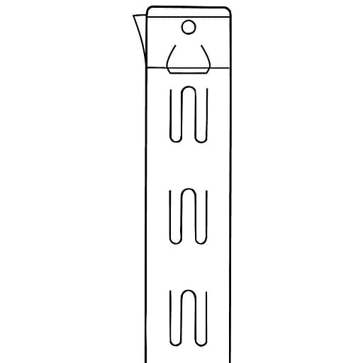FFR Merchandising Channel Mount Quick Strip, With Adhesive, 100/Pack (7001673902)