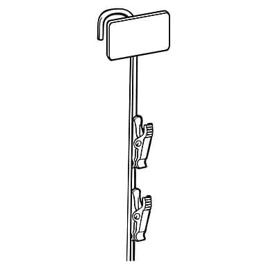 FFR Merchandising Metal Merchandising Strip, Beige, Upright, 12 Station, 8/Pack (7001866612)